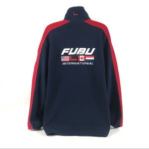 Vintage FUBU SPORTS INTERNATIONAL Fleece Jacket